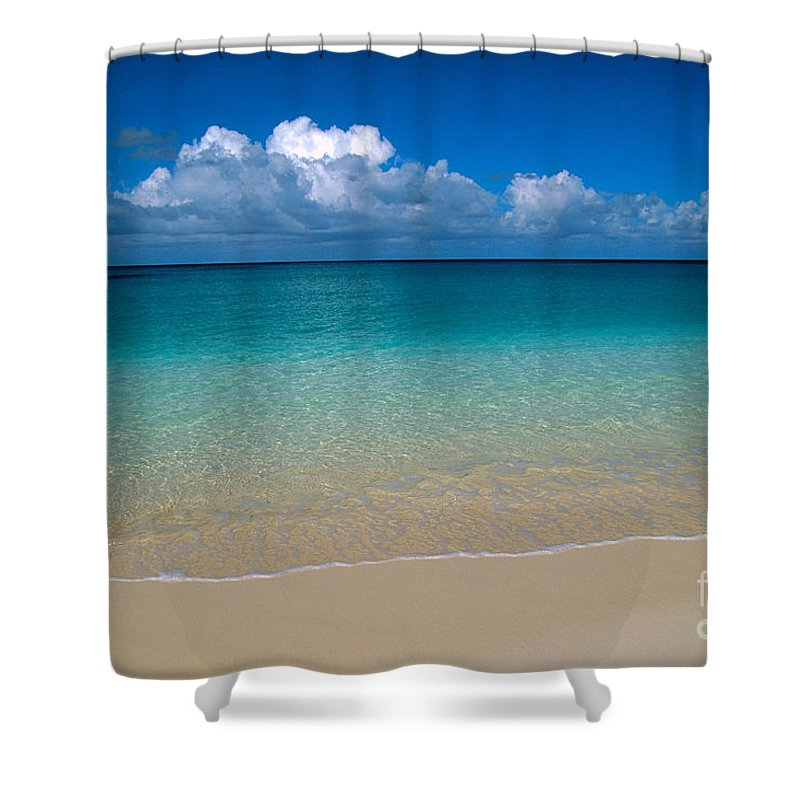 Above Shower Curtain featuring the photograph Shades Of Blue by Greg Vaughn - Printscapes