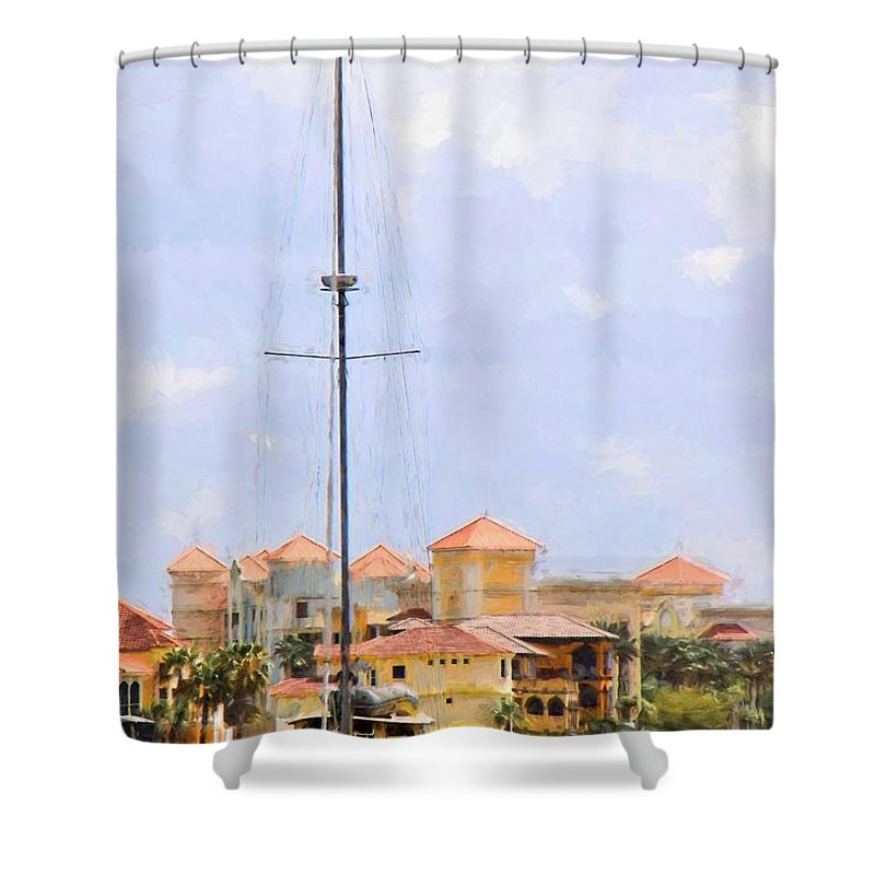 Alicegipsonphotographs Shower Curtain featuring the photograph Shades Of European Village by Alice Gipson