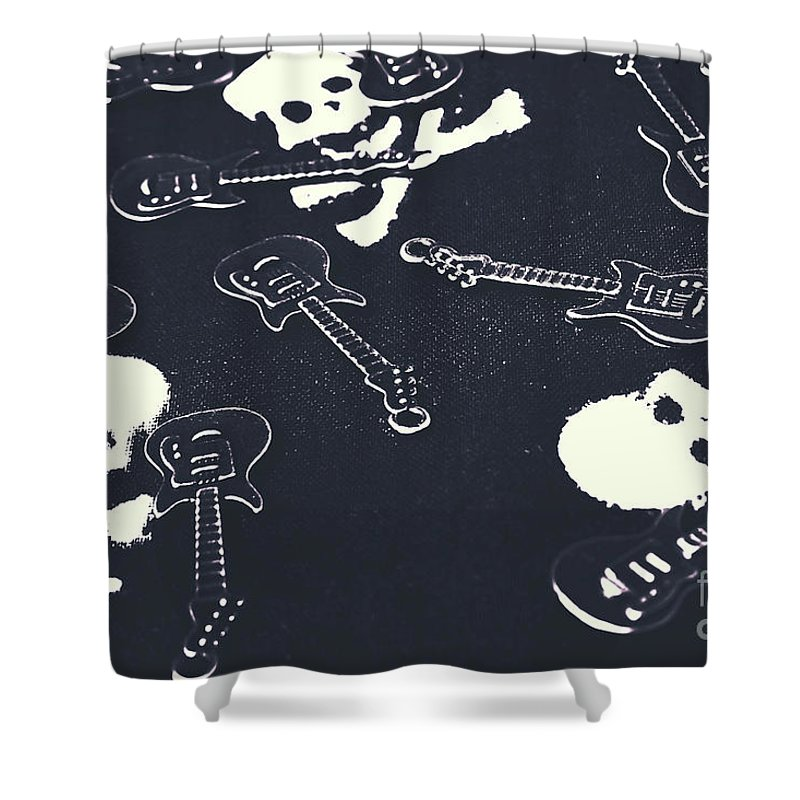 Crossbones Shower Curtain featuring the photograph Shades Of Pop Punk by Jorgo Photography - Wall Art Gallery