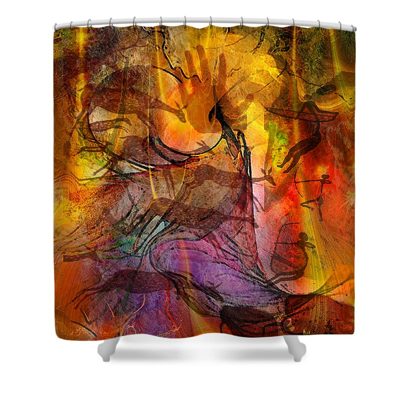 Shadow Hunters Shower Curtain featuring the digital art Shadow Hunters by John Beck