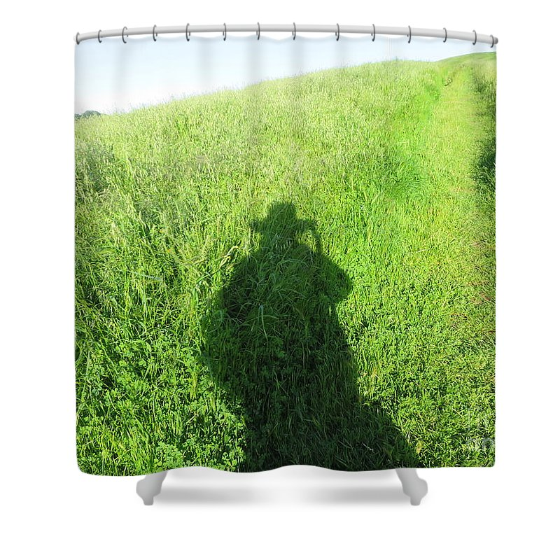 Landscape Shower Curtain featuring the photograph Shadow In The Grass by Suzanne Leonard