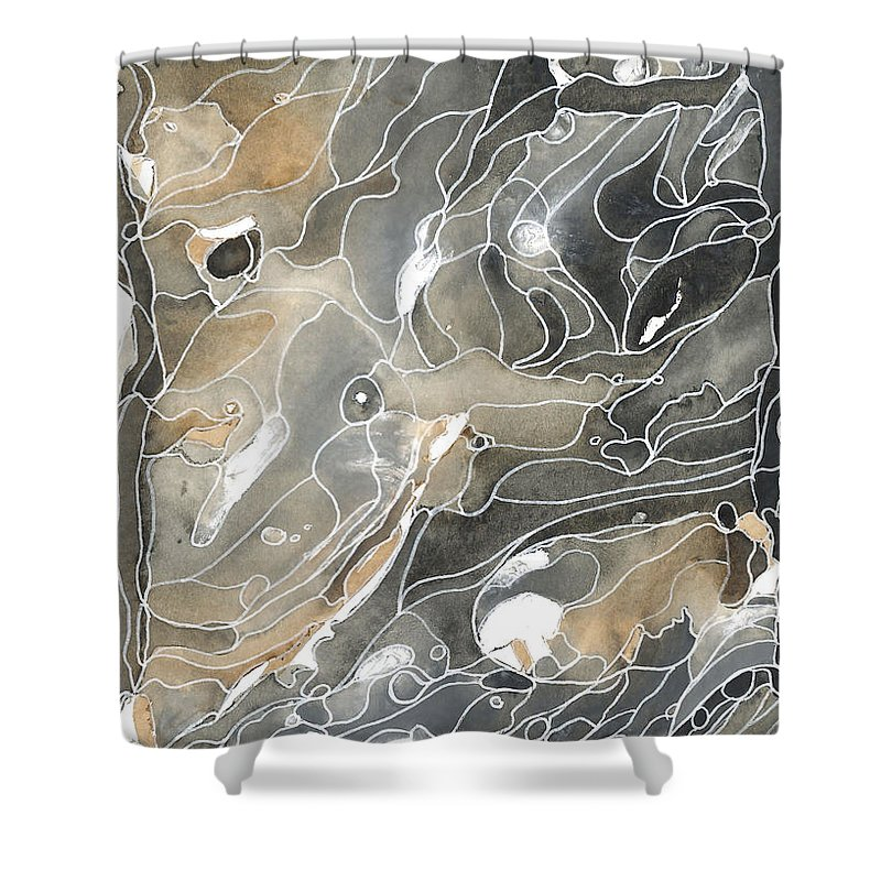 Beauty Shower Curtain featuring the painting Shadows In The River by Katie Ree