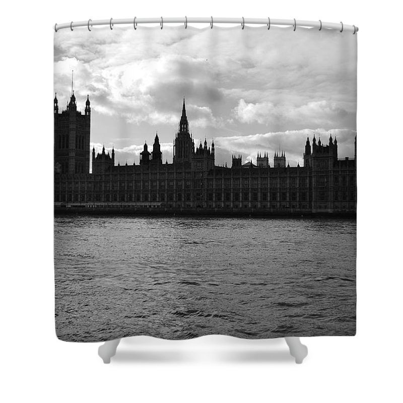London Shower Curtain featuring the photograph Shadows Of Parliament by J Todd