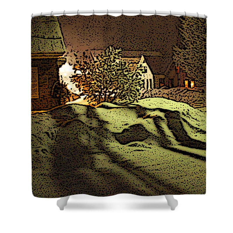 Vermont Shower Curtain featuring the photograph Shadows Of Winters Night by Nancy Griswold