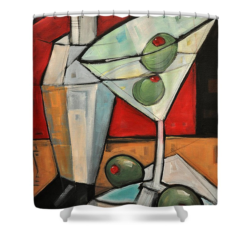 Martini Shower Curtain featuring the painting Shaken Not Stirred by Tim Nyberg