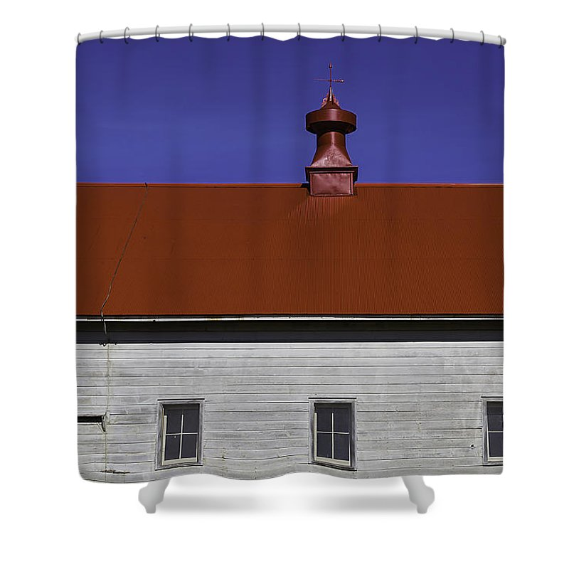 Shaker Shower Curtain featuring the photograph Shaker Building by Garry Gay