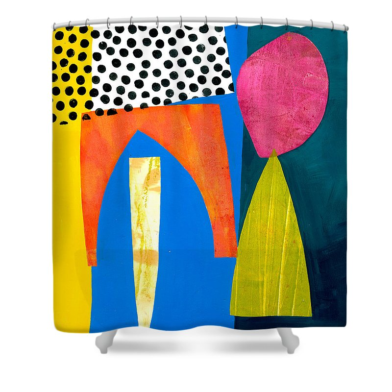 Jane Davies Shower Curtain featuring the painting Shapes 2 by Jane Davies