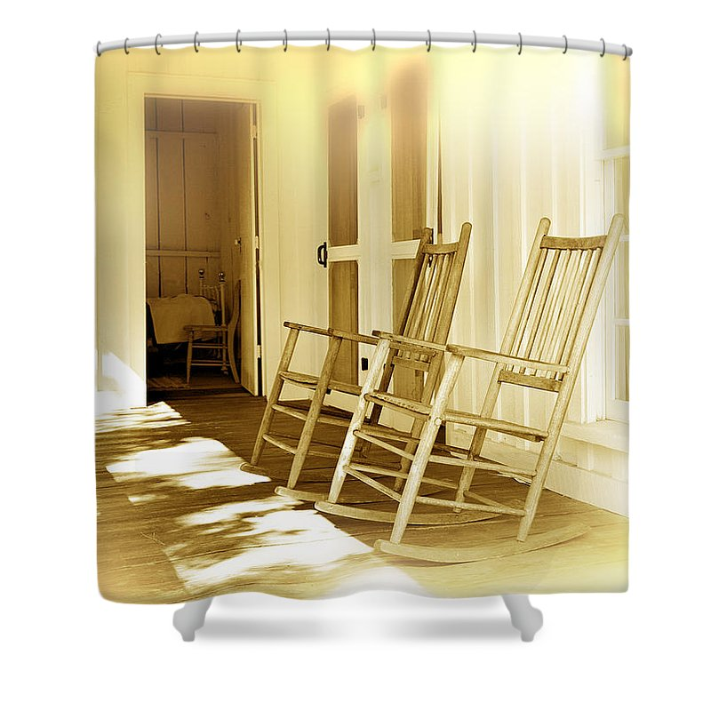 Porch Shower Curtain featuring the photograph Shared Moments by Mal Bray