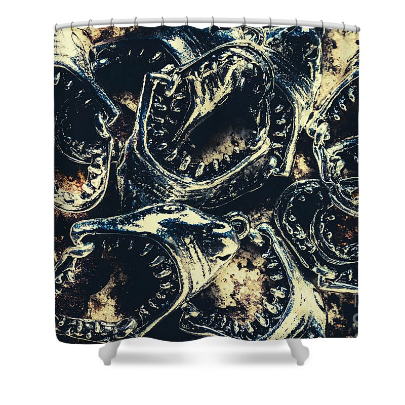 Fish Shower Curtain featuring the photograph Shark Jaws by Jorgo Photography - Wall Art Gallery