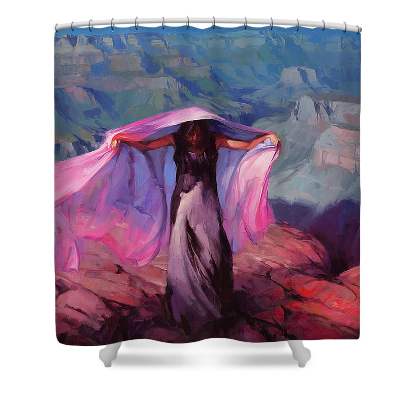 Dancer Shower Curtain featuring the painting She Danced By The Light Of The Moon by Steve Henderson