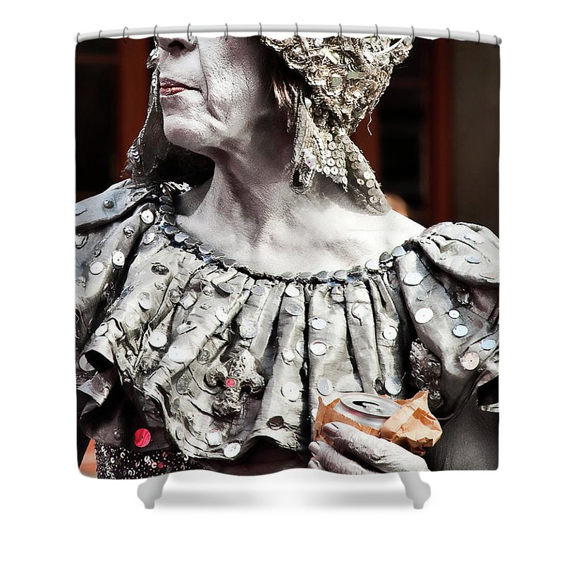 Photography Shower Curtain featuring the photograph She Of Jackson Square by Kathleen K Parker