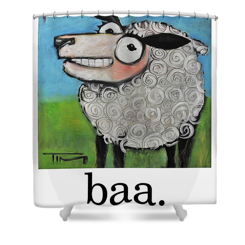Sheep Shower Curtain featuring the painting Sheep Poster by Tim Nyberg