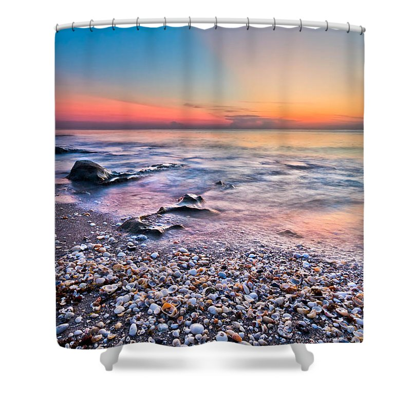 Palm Beach Shower Curtain featuring the photograph Shell City by Debra and Dave Vanderlaan