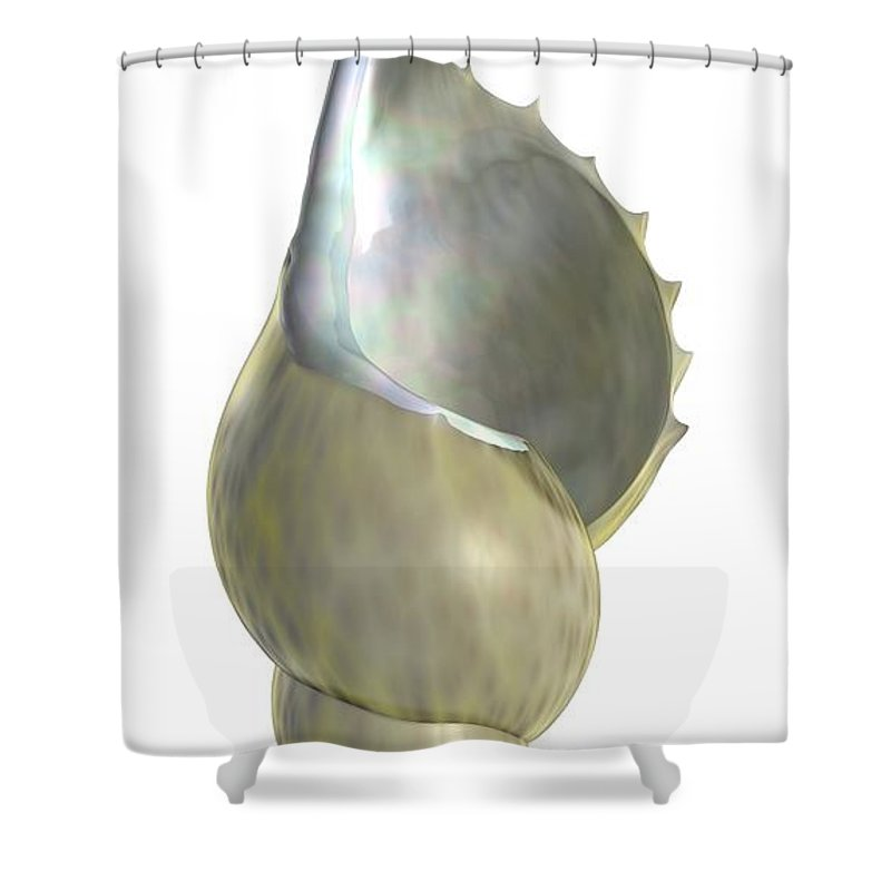 Shell Shower Curtain featuring the digital art Shell Script by Nathan Ryan