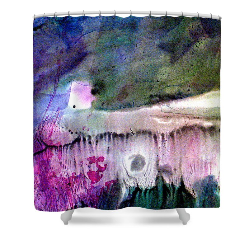 Fantasy Shower Curtain featuring the painting Shelter by Janice Nabors Raiteri