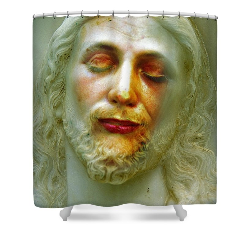 Jesus Shower Curtain featuring the photograph Shesus by Skip Hunt