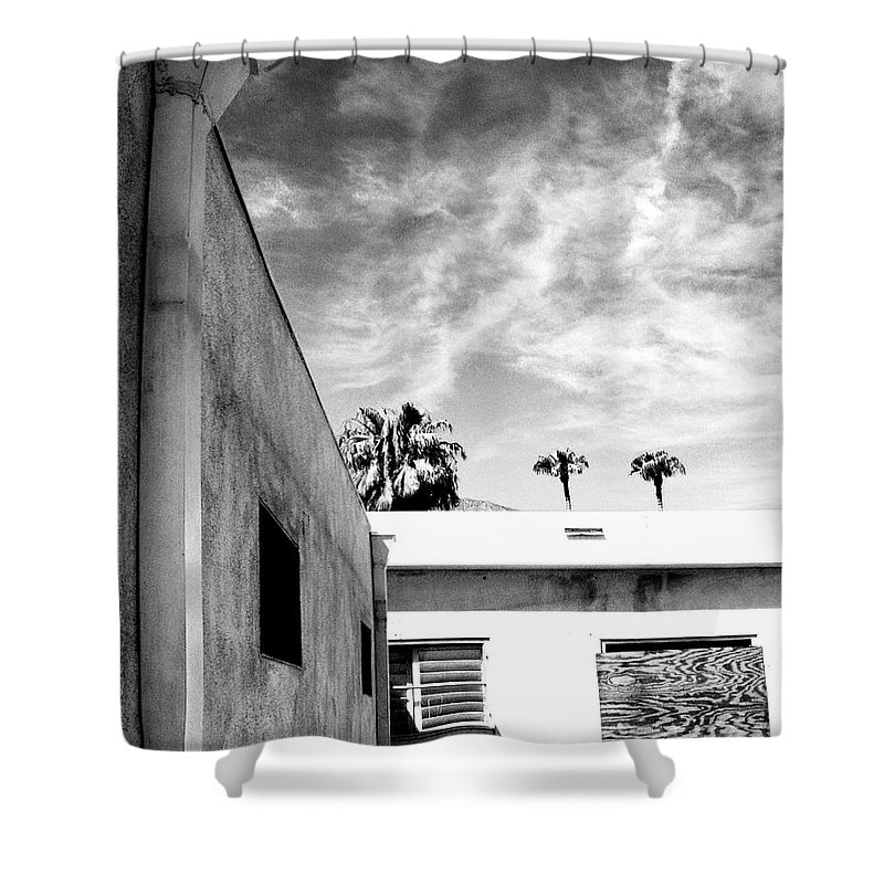 Palm Springs Shower Curtain featuring the photograph Shield by William Dey