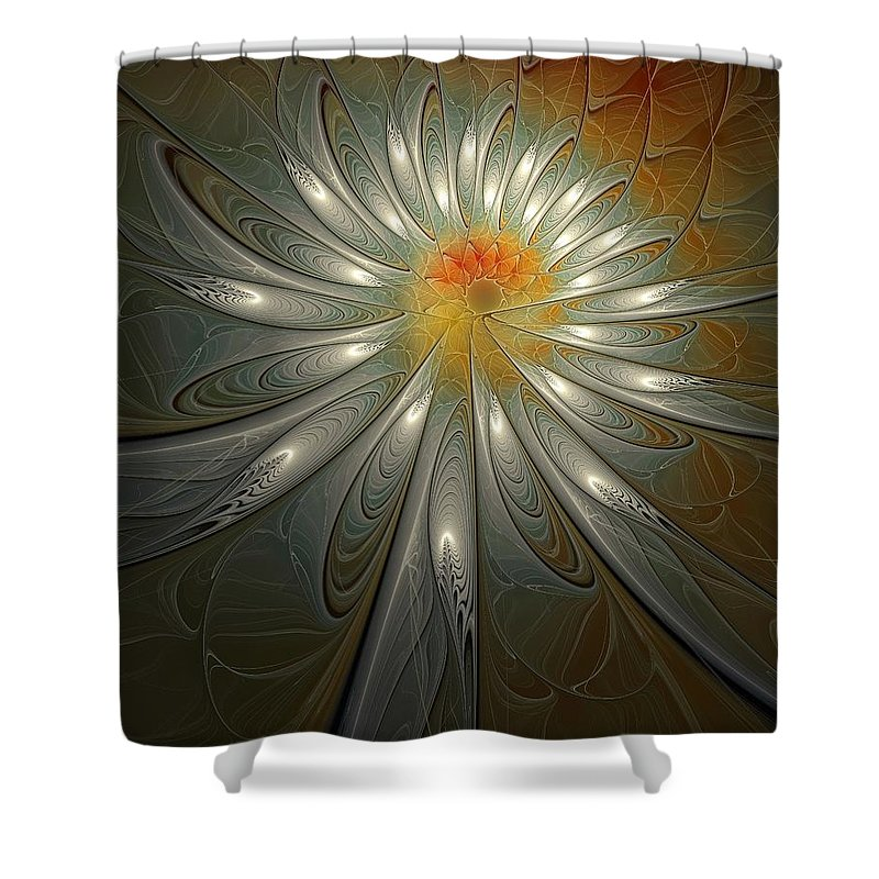 Digital Art Shower Curtain featuring the digital art Shimmer by Amanda Moore