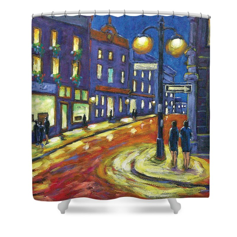 Night Shower Curtain featuring the painting Shimmering Night by Richard T Pranke
