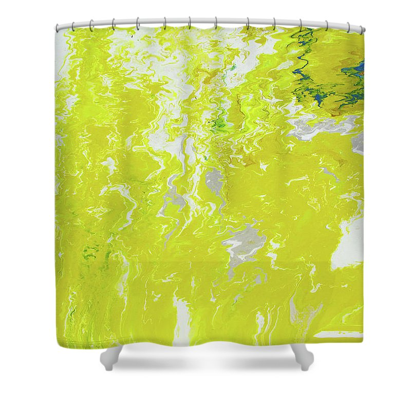 Fusionart Shower Curtain featuring the painting Shine by Ralph White