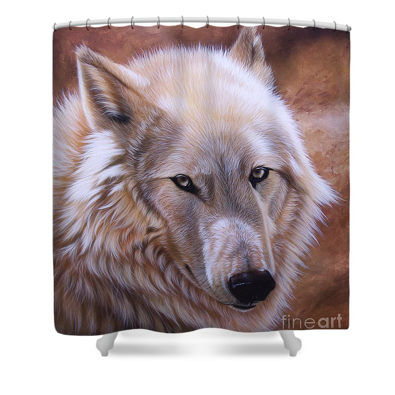 Acrylic Shower Curtain featuring the painting Shine by Sandi Baker