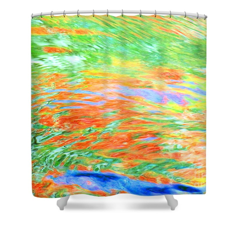 Abstract Shower Curtain featuring the photograph Shine Through by Sybil Staples