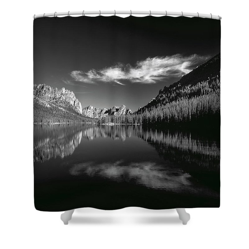 Lakes Shower Curtain featuring the photograph Ship Island Lake by Leland D Howard