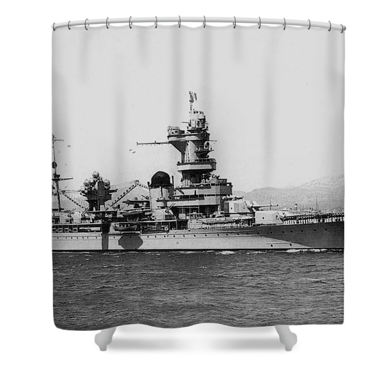 Ship Shower Curtain featuring the digital art Ship by Zia Low