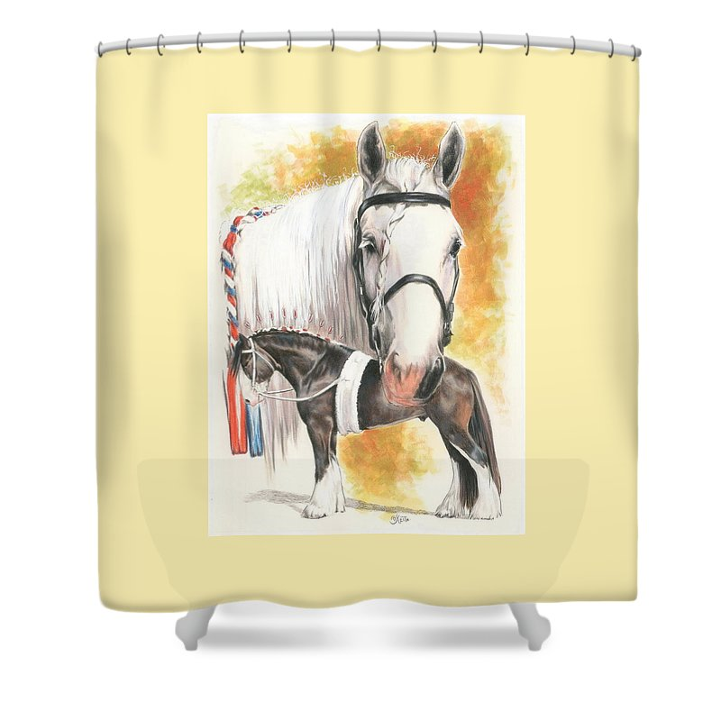 Shire Shower Curtain featuring the mixed media Shire by Barbara Keith