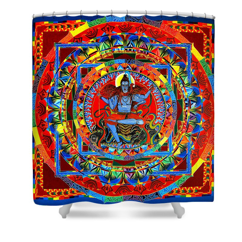 Shiva\'s Rainbow Shower Curtain for Sale by Mira Krishnan