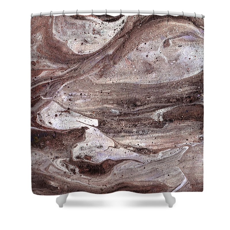 Abstract Shower Curtain featuring the painting Shoal Of Stone Fish by Steve Popham