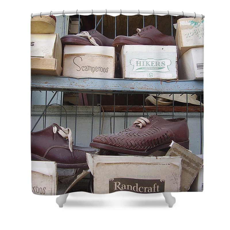 Shoes Shower Curtain featuring the photograph Shoes by Flavia Westerwelle