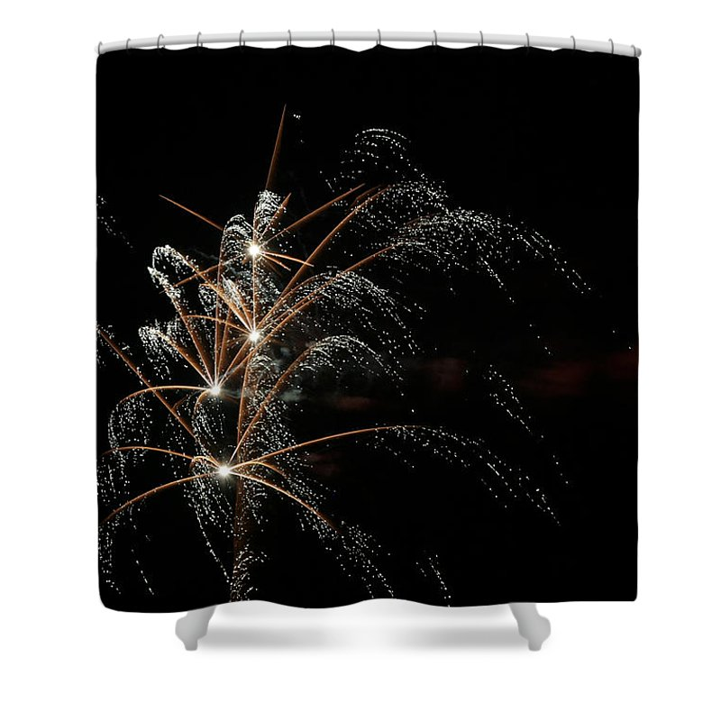 July 4th Shower Curtain featuring the photograph Shooting Stars by Phill Doherty