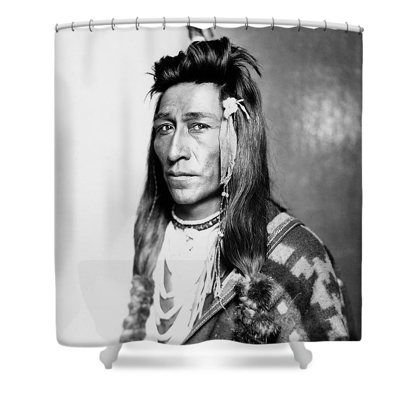 1899 Shower Curtain Featuring The Photograph Shoshone Native American By Granger