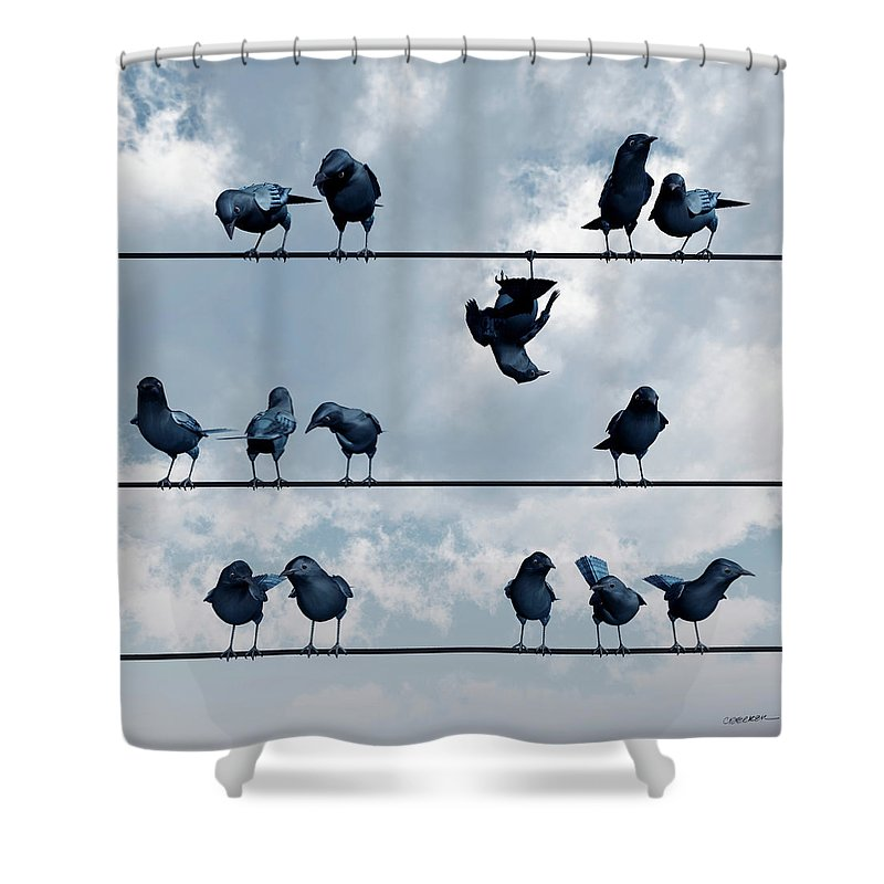 Blackbird Shower Curtains