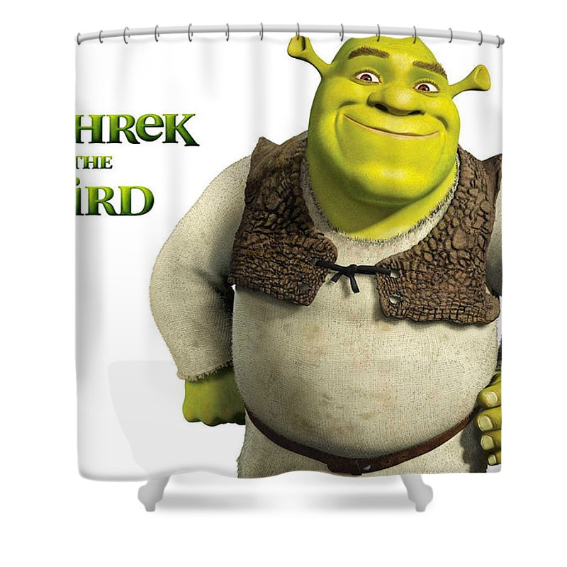 Shrek The Third Shower Curtain Featuring Digital Art By Barbara Elvins