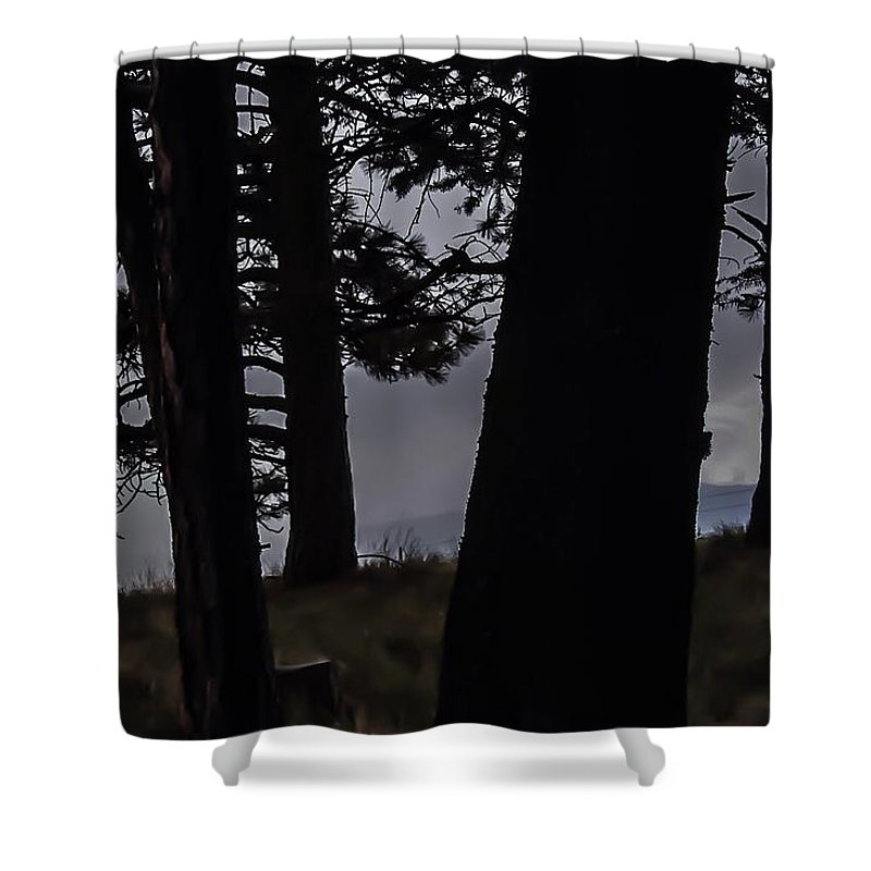 Shower Curtain featuring the photograph Shrouded Soul by Dan Hassett