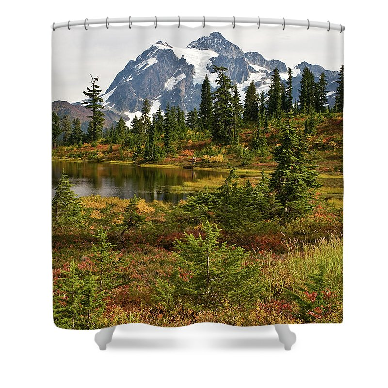 Shuksan Shower Curtain featuring the photograph Shuksan Autumn by Mike Reid