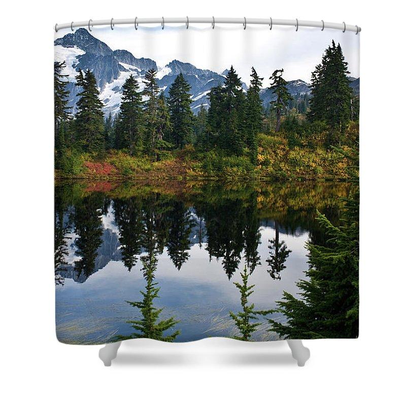Shuksan Shower Curtain featuring the photograph Shuksan Vista by Mike Reid