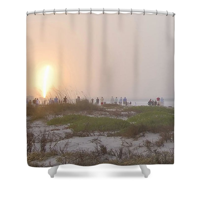 Shuttle Launch Shower Curtain featuring the photograph Shuttle Launch by David Lee Thompson
