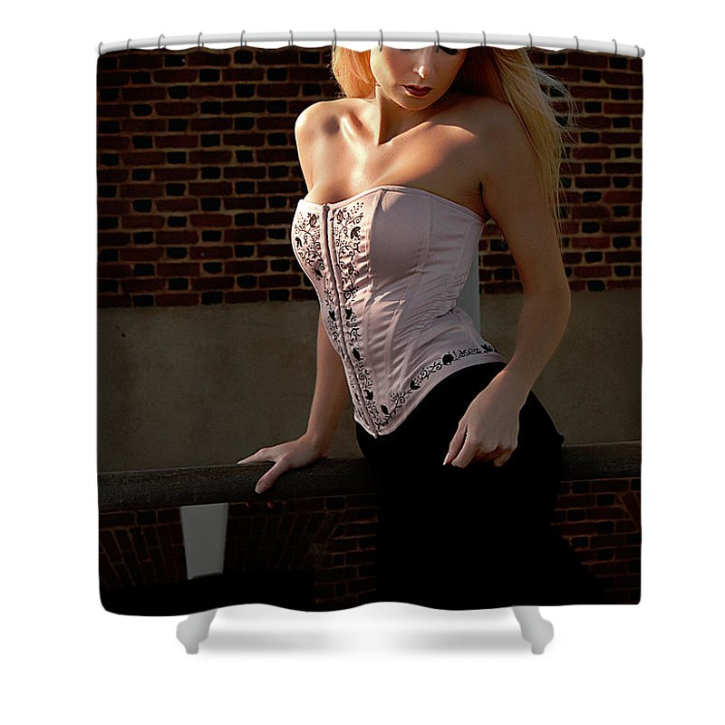 Clay Shower Curtain featuring the photograph Shy by Clayton Bruster