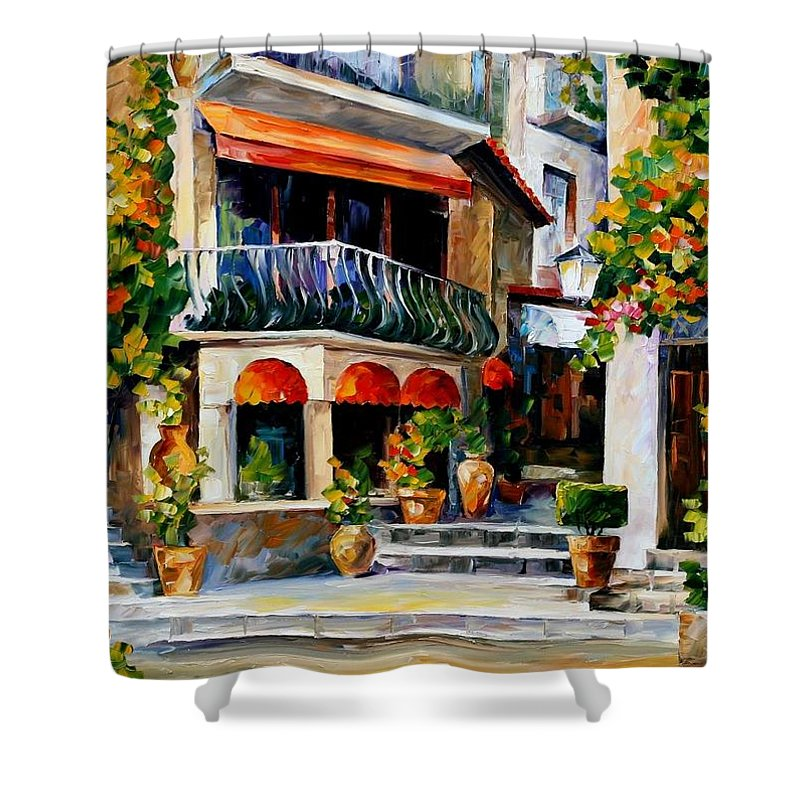 Afremov Shower Curtain featuring the painting Sicily - Spring Morning by Leonid Afremov