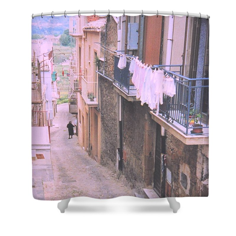Sicily Shower Curtain featuring the photograph Sicily by Ian MacDonald