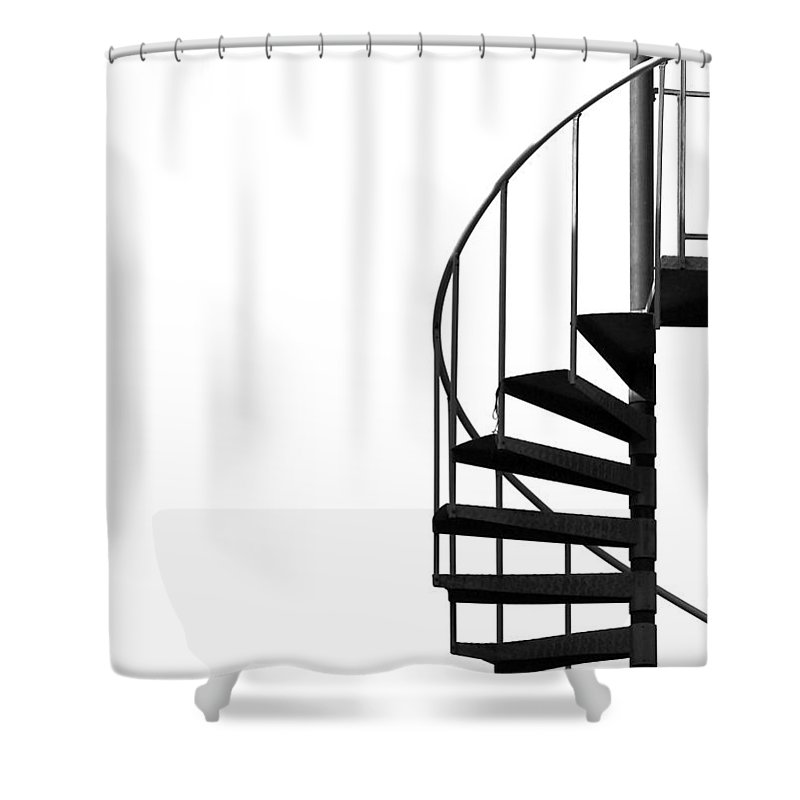 Composition Shower Curtain featuring the photograph Side Entrance by Evelina Kremsdorf