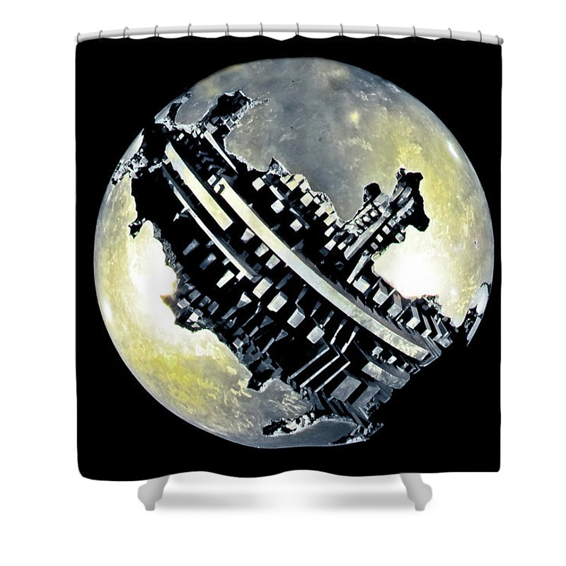 Planet Shower Curtain featuring the photograph Sidereal Planet by Luigi Girola