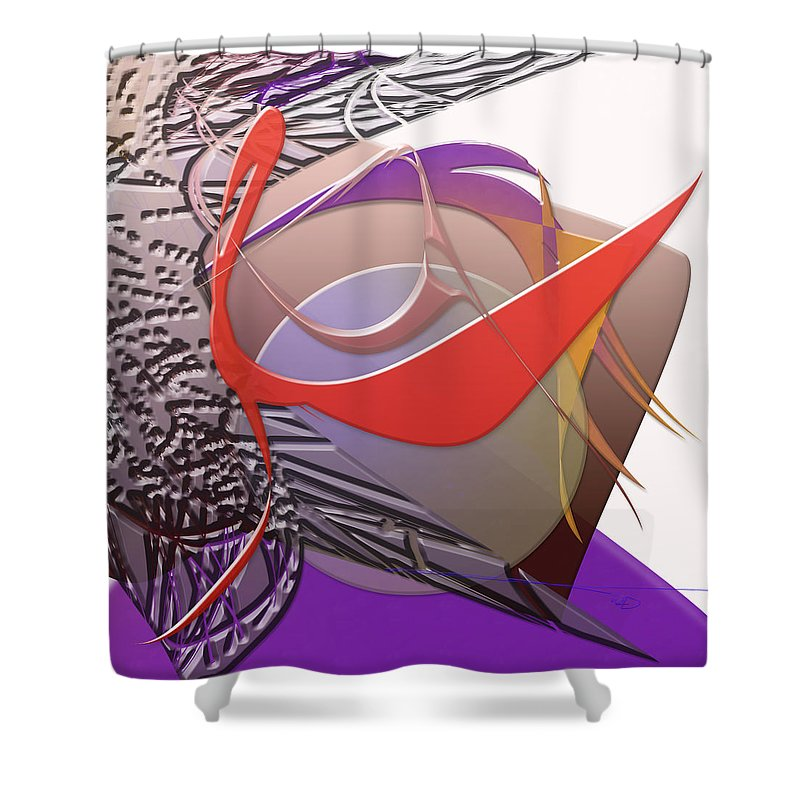 Sidereal Shower Curtain featuring the digital art Sidereal by Warren Lynn