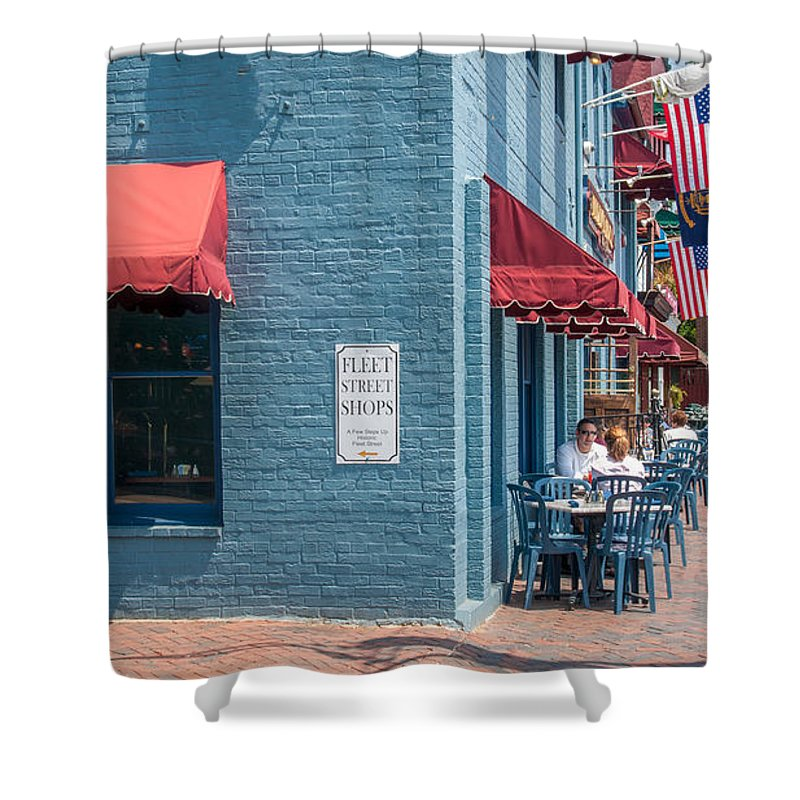Annapolis Shower Curtain featuring the photograph Sidewalk Cafe Annapolis by Charles Kraus