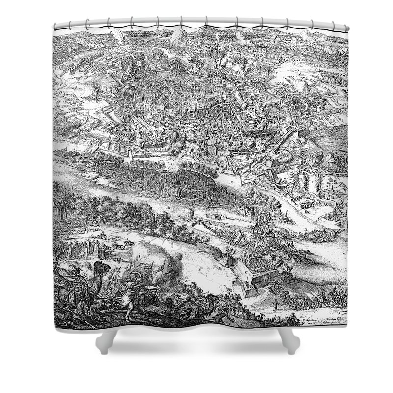 1683 Shower Curtain featuring the photograph Siege Of Vienna, 1683 by Granger