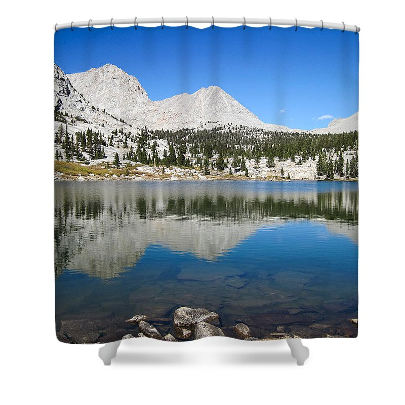 Kern Loop Trail Shower Curtain featuring the photograph Sierra Reflection by Brenda Smith