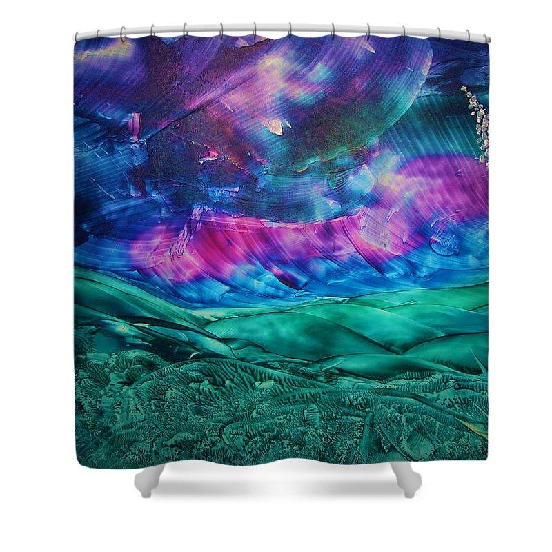Desert Shower Curtain featuring the print Sierra Vista by Melinda Etzold